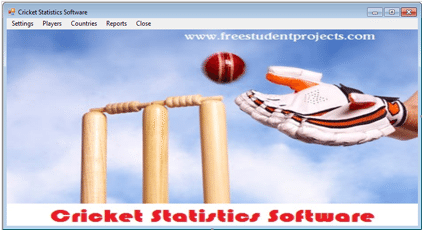 Cricket statistics software