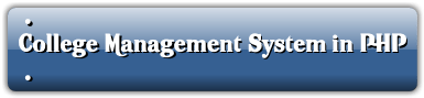 College Management System in PHP