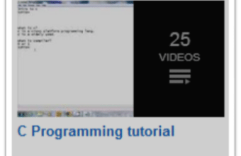 C Programming Video tutorials for Projects