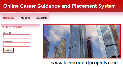 Online Career Guidance And Placement System Free Student